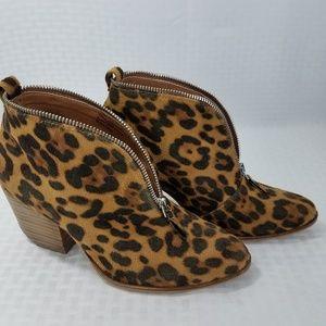 "Beast Fashion Animal Print Booties 3"" Rocker Heel"